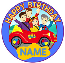 The Wiggles Car Round PERSONALISED Edible Birthday Cake Topper Image Decoration
