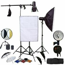 Flash Strobe 450W Softbox Umbrella Reflector Studio Lighting Kit Dimmable UK