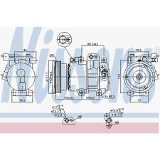 Nissens Kompressor, Klimaanlage KIA Carens Iii,Cerato,Rio II 890232 KIA