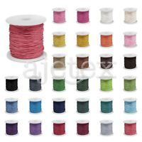 0.5/1/1.5mm 1 Roll 80m Waxed Cotton Cord Wire Beading String Jewelry 30 Color