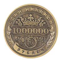 Russe 1 Million Rouble Chanllenge Pièce De Monnaie Métal Artisanat Cadeaux FE
