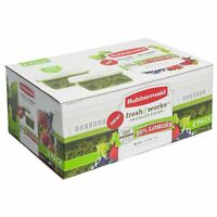 Rubbermaid FreshWorks Produce Saver Containers, Large, Green, 2-Pack Set