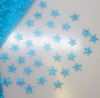 appliqué 30 étoiles 1cmFlex thermocollant GLITTER BLEU AQUA  hotfix