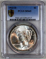 * 1923-D * MS65 PCGS * PEACE SILVER DOLLAR PREMIUM QUALITY! SUPERB EYE APPEAL! *