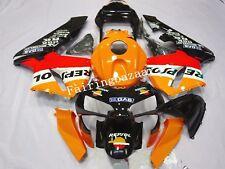 Fit for CBR600RR 2003 04 REPSOL Orange Black ABS Injection Plastic Fairing Kit
