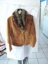 Woman's Suede & Faux Fur Jacket from Coldwater Creek Size PM