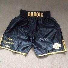 Daniel Dubois mano firmado Pantalones Cortos Personalizado con pruebas. cert. de autenticidad. garantía..