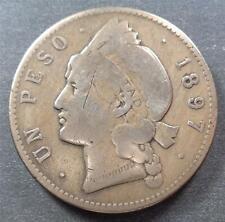 Dominican Republic, Silver 1 Peso, 1897, toned