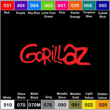 "Gorillaz Band Vinyl Decal Sticker Window Car Truck Music 8"""