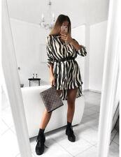 DE Damen Sexy Leopard Hemdkleid Shirtkleid Partykleid Longshirt Minikleid Bluse