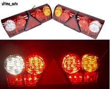 PAIR OF 12V REAR STOP 68 LED LIGHTS INDICATOR FOG LAMP TRAILER TRUCK TIPPER