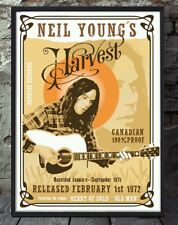 Neil Young Harvest a4 print. Specially created.