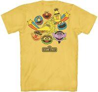 Sesame Street 1969 Retro Classic Adult Tee Graphic T-Shirt for Men Tshirt
