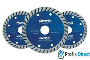 Mexco  GPX Turbo 115mm General Purpose Angle Grinder Diamond Blades  3 Pack
