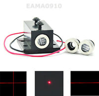 INDUSTRIAL 50mW 650nm 660nm Red Diode Laser Dot&Line&Cross Module 5V w/Heatsink