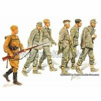 GERMAN CAPTIVES + GUARD 1944 WWII 1/35 MASTER BOX 3517 DE