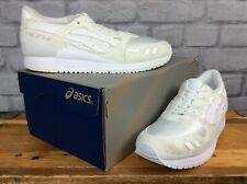 ASICS MENS UK 5 EU 39 WHITE GEL LYTE III WHITE MESH RUNNING TRAINERS ACTIVE J