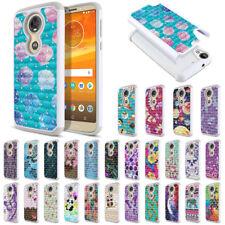 """For Motorola Moto E5 Plus 6"""" Shock Proof Hybrid Sparkle Bling Case Cover"""