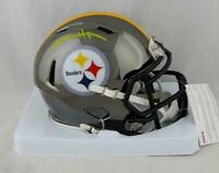 Antonio Brown Autographed Pittsburgh Steelers Chrome Mini Helmet- JSA W Auth