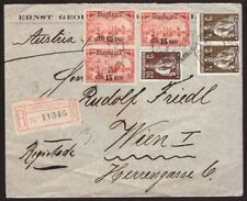 Portugal, 1913  multifranked registered cover to Austria          -DB11