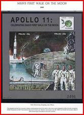 PALAU 1999  USA in SPACE / man's first WALK on MOON M/S +4 S/S (5 !!!) MNH FLAGS
