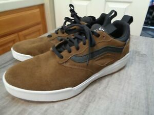 New Men's VANS UltraRange Pro Brown Leather Shoes Size 10 Skateboard Ultra Range