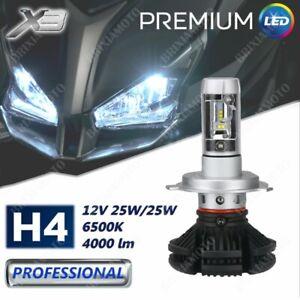 LAMPADINA H4 1 LAMPADA LED X3 12V 4000LM DUCATI MONSTER S4R S2R 620 94/'07