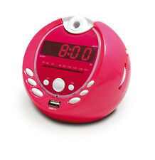 Metronic Gulli Radio Réveil Mp3 USB projection 180° Rose