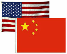 3x5 3'x5' Wholesale Combo Set USA American & China Chinese 2 Flags Flag