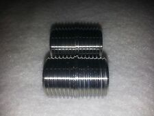 1/2 x Close CL  (1 Inch Long) 304 Stainless Steel Nipple NPT SCH 40 Lot of 2