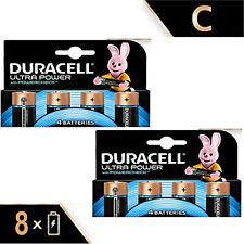 8 X  DURACELL ULTRA POWER C SIZE BATTERIES 2 x 4 PACKS