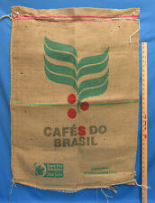 Gunny Sack Burlap Bag Jute Coffee Cafe de Brasil Brazil Home Decor Crafts