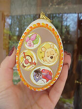 REAL Egg Carved Winnie the Pooh Decorative Collectible Ornament Birthday Gift
