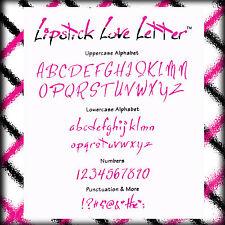 Sizzlits Lipstick Love Letter Alphabet 35 dies #655324 Retail $149.99 RARE!!
