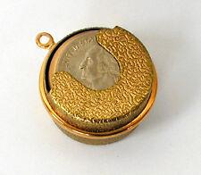Coin holder pendant ebay vintage brass coin quarter holder dispenser charm pendant 1970s 1960s aloadofball Images