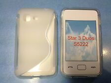 Samsung S5220 Star 3 S5222 Star 3 Duos - Housse silicone souple TRANSPARENT
