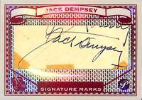 Jack Dempsey Cut Signature: 2005 Topps Pristine Legends Signature Marks Card