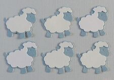 Sheep Die Cuts.   Sets of 6.  Pretty in Blue & White.  See other Colors.  NEW.
