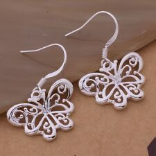 925 BEAUTIFUL SILVER FILIGREE BUTTERFLY IRISH CELTIC  ÉTAÍN GODDESS DROP EARRING
