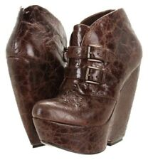 """Mia Liimited Edition """" Veda""""  Wedge Booties - Size 7M - Brown - $99"""
