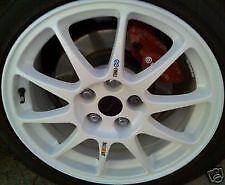 Mitsubishi Evo Alloy Wheels NEW Decals RALLIART/ENKEI