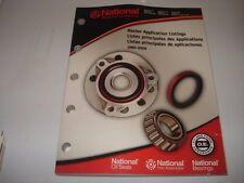 BCA Bearing National Seal Application Catalog for Car & Truck 1980-2009