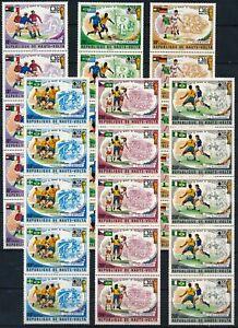 [PG20493] Upper Volta 1974 : Soccer - 5x Good Set Very Fine MNH Stamps