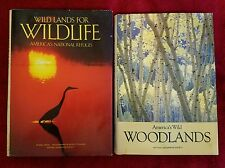 NATIONAL GEOGRAPHIC SOCIETY LOT OF 2 BOOKS. WILD LANDS AND WOODLANDS