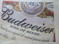 1 Budweiser Beer Can Label Logo Quilting Blocks Quilt Squares Sewing block King