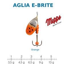 AGLIA E-BRITE MEPPS Argent / Orange Taille 1 Poids 3,5 g UV Sensitive