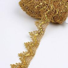 5Yards 35mm Gold Silver Lace Ribbon Accessories Garments Sewing DIY Clothes
