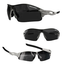 VeloChampion Warp Cycling Biker Sunglasses Outdoor Sports With 3 Lenses Silver