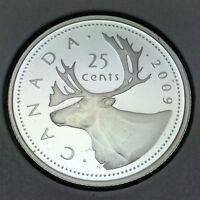 2009 Proof Canada 25 Twenty Five Cents Quarter Canadian Coin Not In Case D737