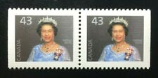 Canada #1358avis CP APC MNH, Queen Elizabeth II Booklet Pair of Stamps 1995